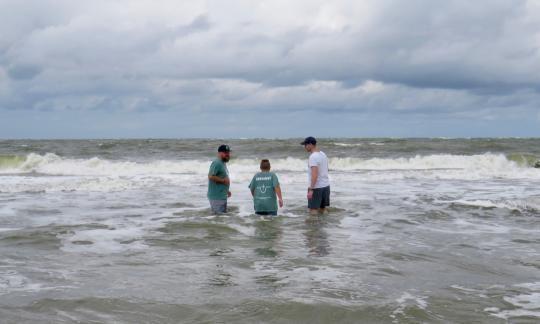 Baptistentaufe In Der Nordsee Langeoog Aktuell Langeoog News